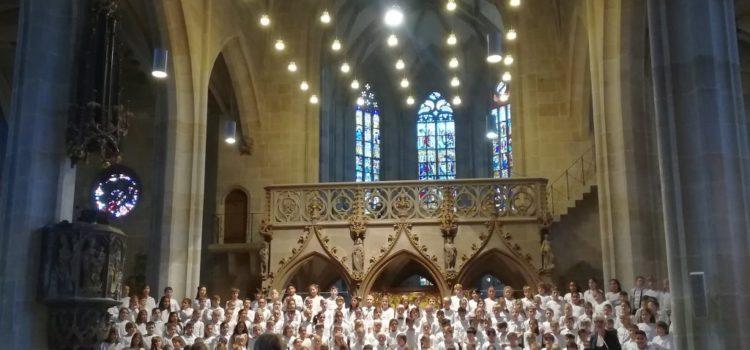 Unsere Viertklässler beim SingBach-Konzert am 26. Oktober in der Stiftskirche Tübingen